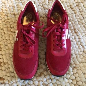 Michael Kors red sneakers size 9